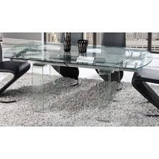 Black Extendable Dining Table Extendable Glass Kitchen U0026 Dining Tables You U0027ll Love Wayfair