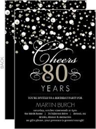80th birthday invitations black and taupe confetti 80th birthday invitation save