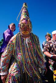 traditional cajun mardi gras costumes ca 1999 church point louisiana usa a heavily beaded mardi