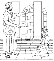 jesus heals a crippled woman coloring page