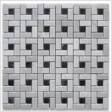 marble mosaic tile black and white marble mosaic tile tiles home design ideas