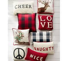 Pottery Barn Lumbar Pillow Covers Naughty Or Nice Reversible Knit Lumbar Pillow Cover Pottery Barn