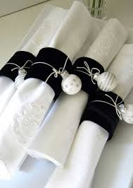 Celebrations Black Velvet Napkin Rings Christmas Napkin Rings