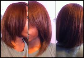 sew weave bob hairstyles bangs invisible parting part medium