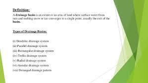 definition pattern of drainage drainage basins