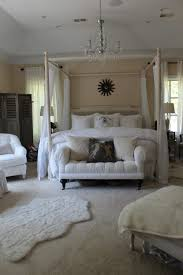 bedroom bedroom white stained wooden canopy bed with high