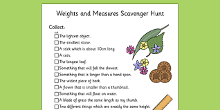 and measures scavenger hunt ks1 scavenger hunt ks1