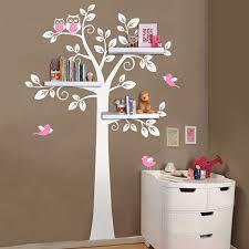stickers arbre chambre b pépinière mur stickers arbre hibou bébé et mère mur autocollant