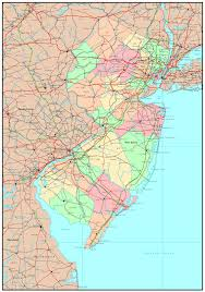 Map Of Maryland State by Large Detailed Administrative Map Of New Jersey State With