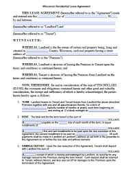 free rental lease agreement download free wisconsin standard residential lease agreement u2013 pdf template