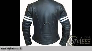 retro motorcycle jacket white striped cafe racer style retro leather jacket youtube