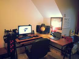 Gaming L Desk Z Line Belaire Glass L Shaped Gaming Computer Desk Creative Desk