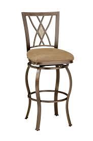 furniture brown iron swivel bar stool with back using diamong