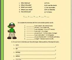 words elementary worksheet