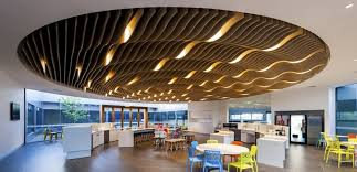 Wood Slat Ceiling System by Supawood Architectural Lining Systems