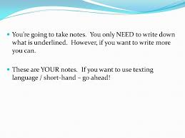 you u0027re going to want you u0027re going to take notes ppt download
