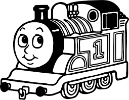 cartoon one train coloring page wecoloringpage