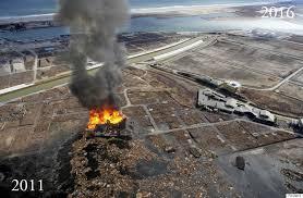 tsunami 2011 fukushima disaster before and after images