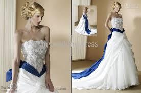 wedding dress trim wedding dresses with royal blue trim wedding dresses