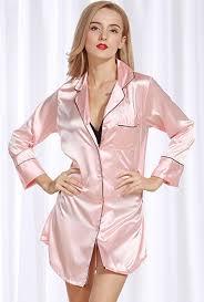 womens satin pajamas sleepwear
