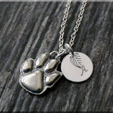 personalized paw print necklace shop personalized dog paw necklace on wanelo