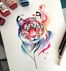 best 25 watercolor tiger ideas on pinterest tiger illustration