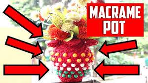 Pot Flag Diy Macrame Pot Design Indian Flag Edition Step By Step Easy