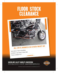 2015 floor stock clearance gasoline alley