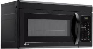 Microwave Toaster Combo Lg Lg Lmv1831sb 1 8 Cu Ft Over The Range Microwave Oven With Sensor