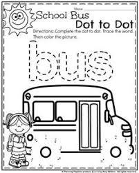 preschool worksheets buses worksheets