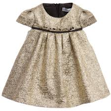 baby girls gold jacquard dress jacquard dress gold and kids online