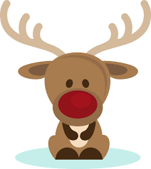 christmas clipart reindeer head pencil and in color christmas