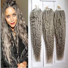 microbead extensions silver gray hair extensions curly micro bead hair extensions