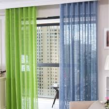 online shop solid color tulle curtain screens white sheer curtains