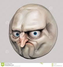 Internet Meme Faces - internet meme no rage face 3d illustration stock illustration