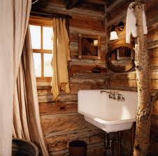 bathroom wooden sink vanity warm color rustic bathroom ideas