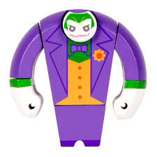joker wooden figure from dc direct loot vault by loot crate