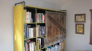 Bookcase With Sliding Glass Doors by Expedit Bookshelf Turned Rustic Tv Cabinet Bookshelf Ikea