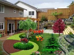 cool backyard landscape designs for slopes for backyard