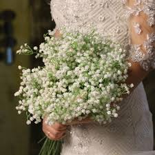 baby breath flowers 6pcs lot pu real touch wedding artificial flowers baby breath