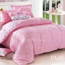 Pink Down Comforter Affordable Cute Baby Pink Patterned Kids U0027 Bedding Sets For Girls