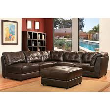 Livingroom Set Erica 6 Piece Top Grain Leather Modular Sectional Living Room Set