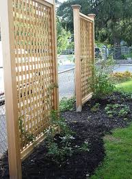 How To Build A Trellis How To Build Lattice Fence Panels Set The Lattice In Place How