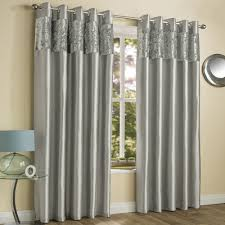 amalfi crushed velvet fully lined ring top curtains silver grey