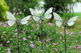 3pcs per set glow in butterfly garden stake garden ornaments
