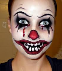 scary faces for halloween with makeup