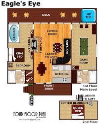 7th heaven house floor plan eagle u0027s eye a pigeon forge cabin rental