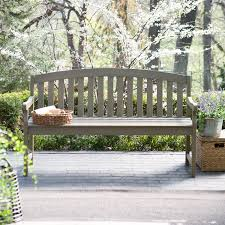 Outdoor Wooden Benches Amazon Com Coral Coast Amherst Curved Back 5 Ft Outdoor Wood