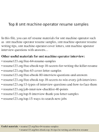 Cnc Operator Job Description For Resume by Free Resume Templates For Machine Operator Shishita World Com