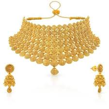 choker gold necklace images Gold choker necklace retailer from dehradun jpg